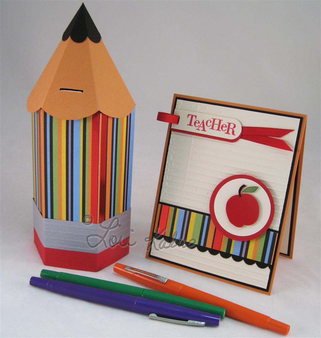 Back to School card and pencil c (Large)