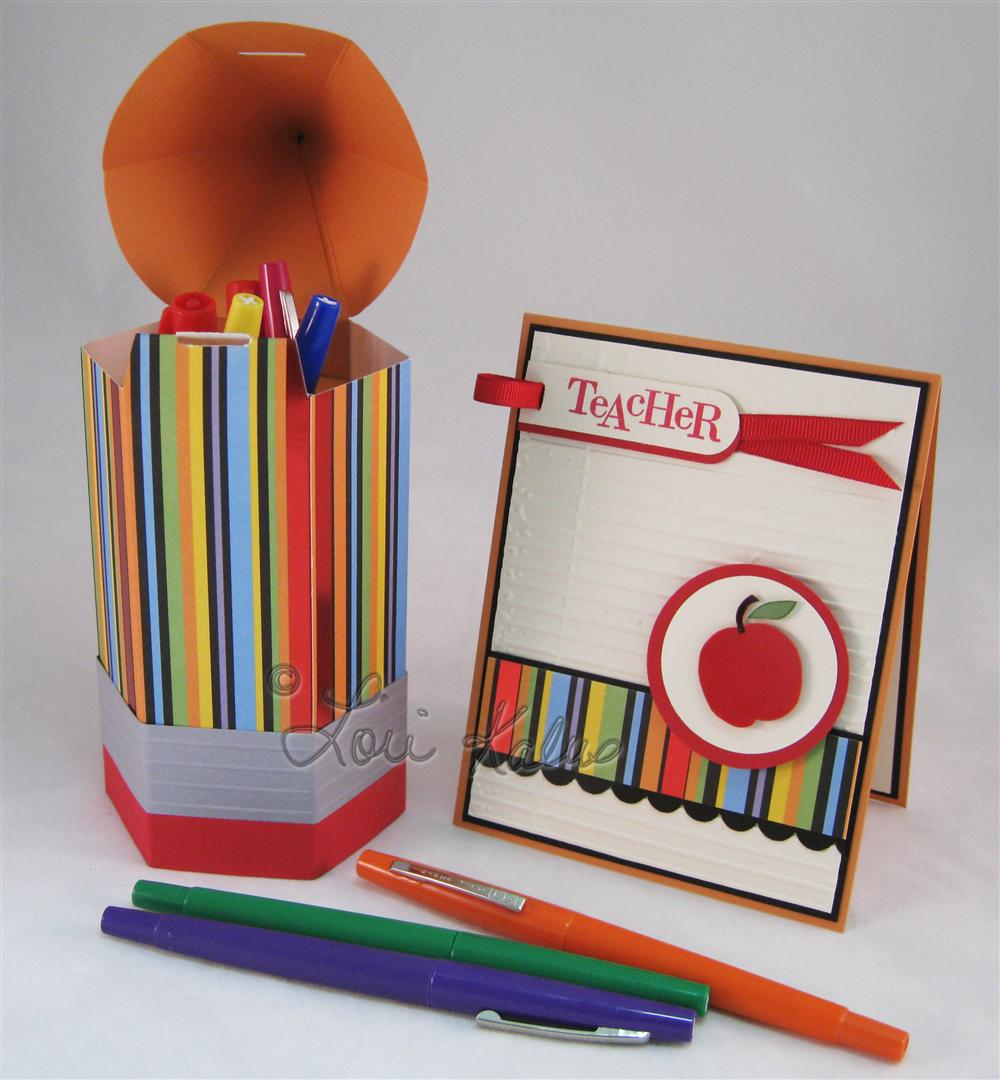 Back to School card and pencil d (Large)