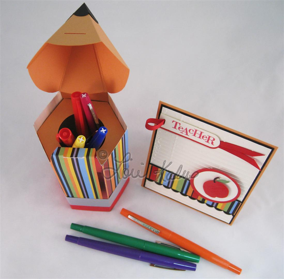 Back to School card and pencil e (Large)