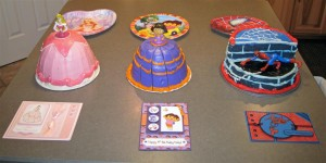 Carli, Haily, Drew 4 bday cakes (Large) (My Triplets Turned 4!!)